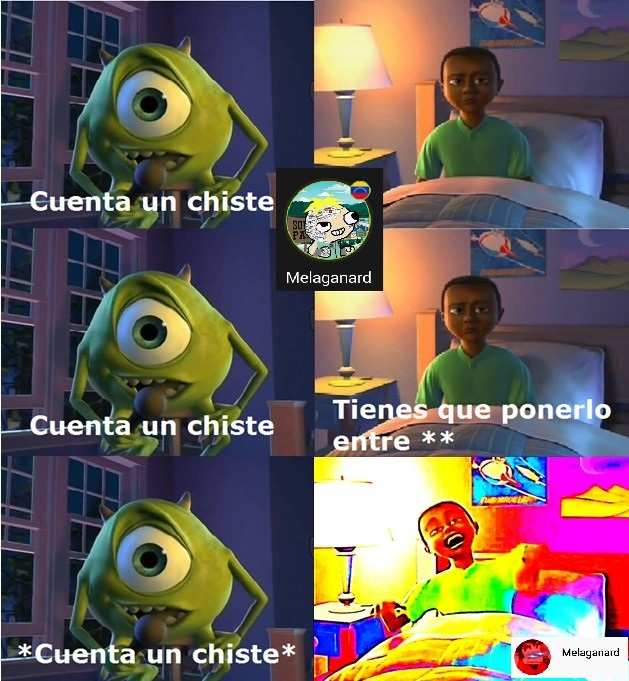 El super comediante Mike Wazowski - meme