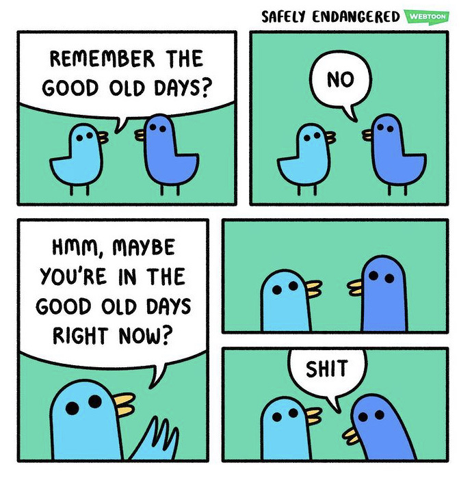 remember the good ol days ? - meme