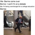my overpriced college education brings bernie to the yard