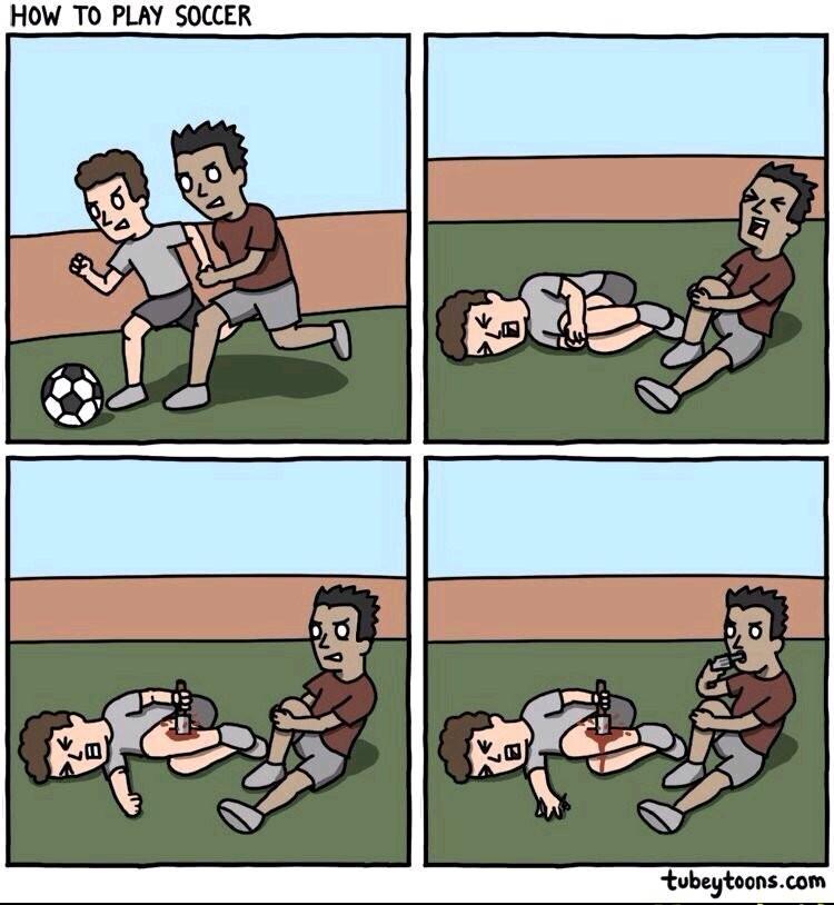 Soccer players - meme