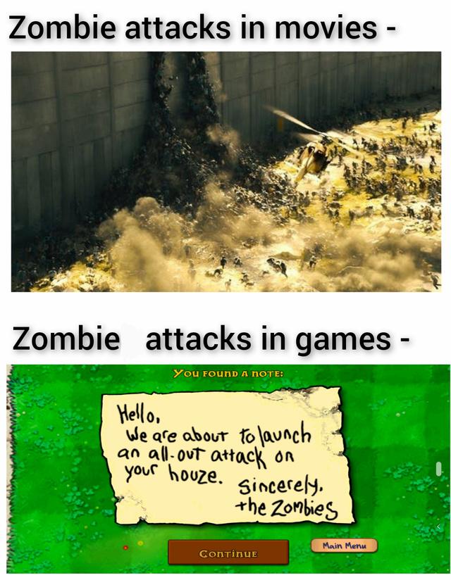 Zombie attack! - meme