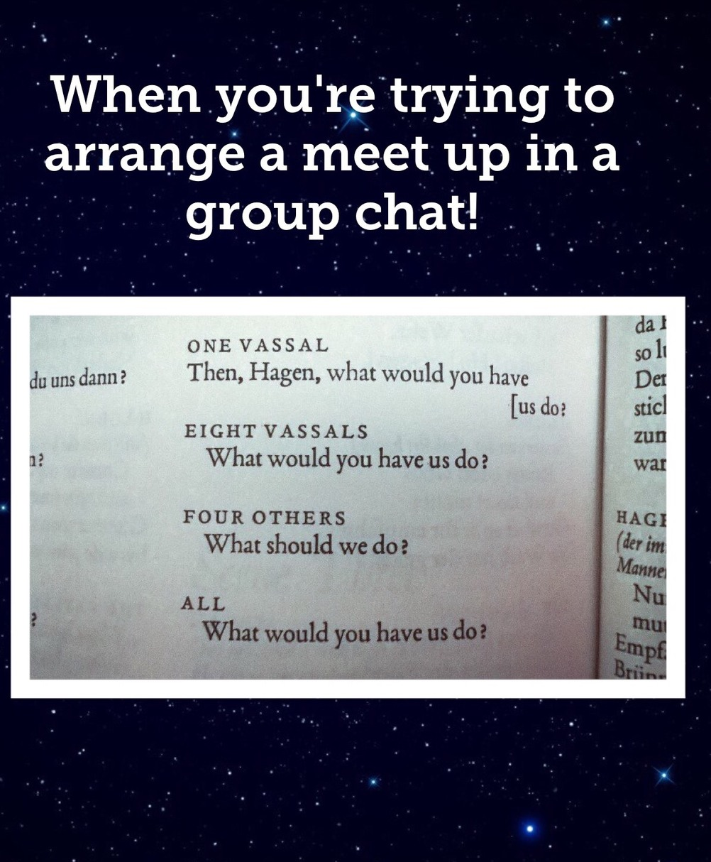 group chat problems - meme