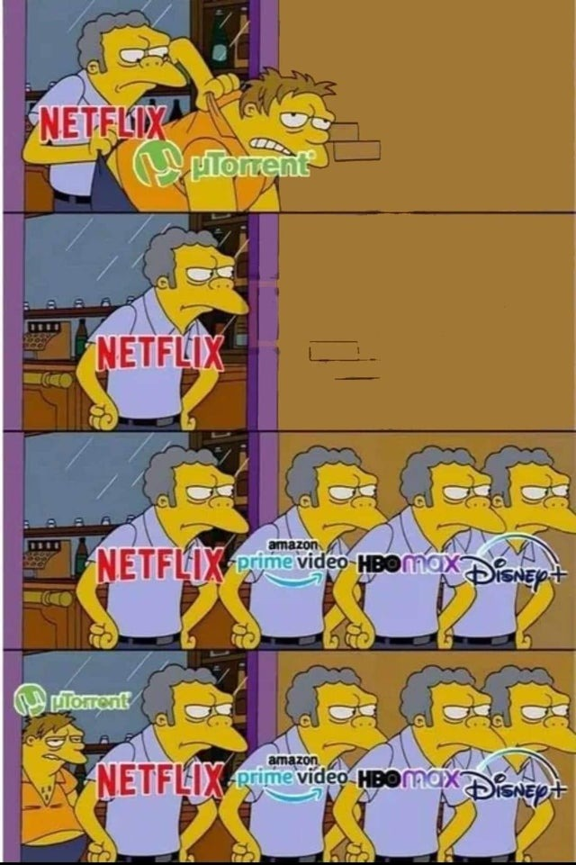 Netflix competitors - meme