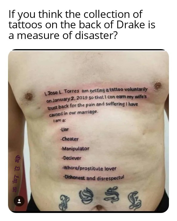 You know your tat's ain't shit next to this chest piece - meme