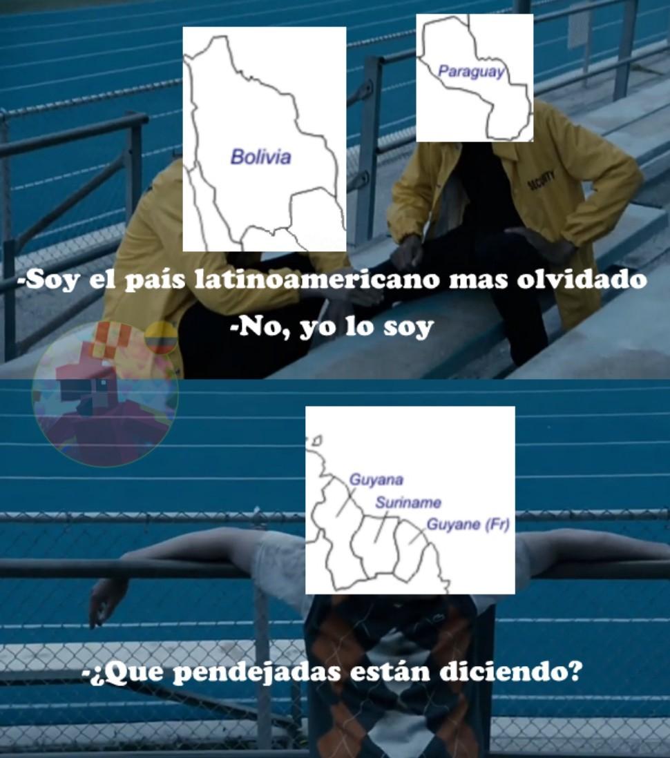 Segun google las guyanas forman parte de Latinoamérica - meme