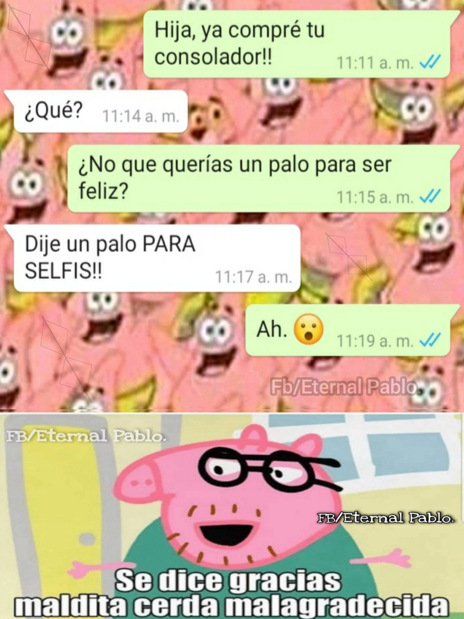 La Peppa Pig :'c - meme
