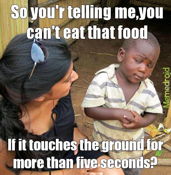 I can't eat that food - meme
