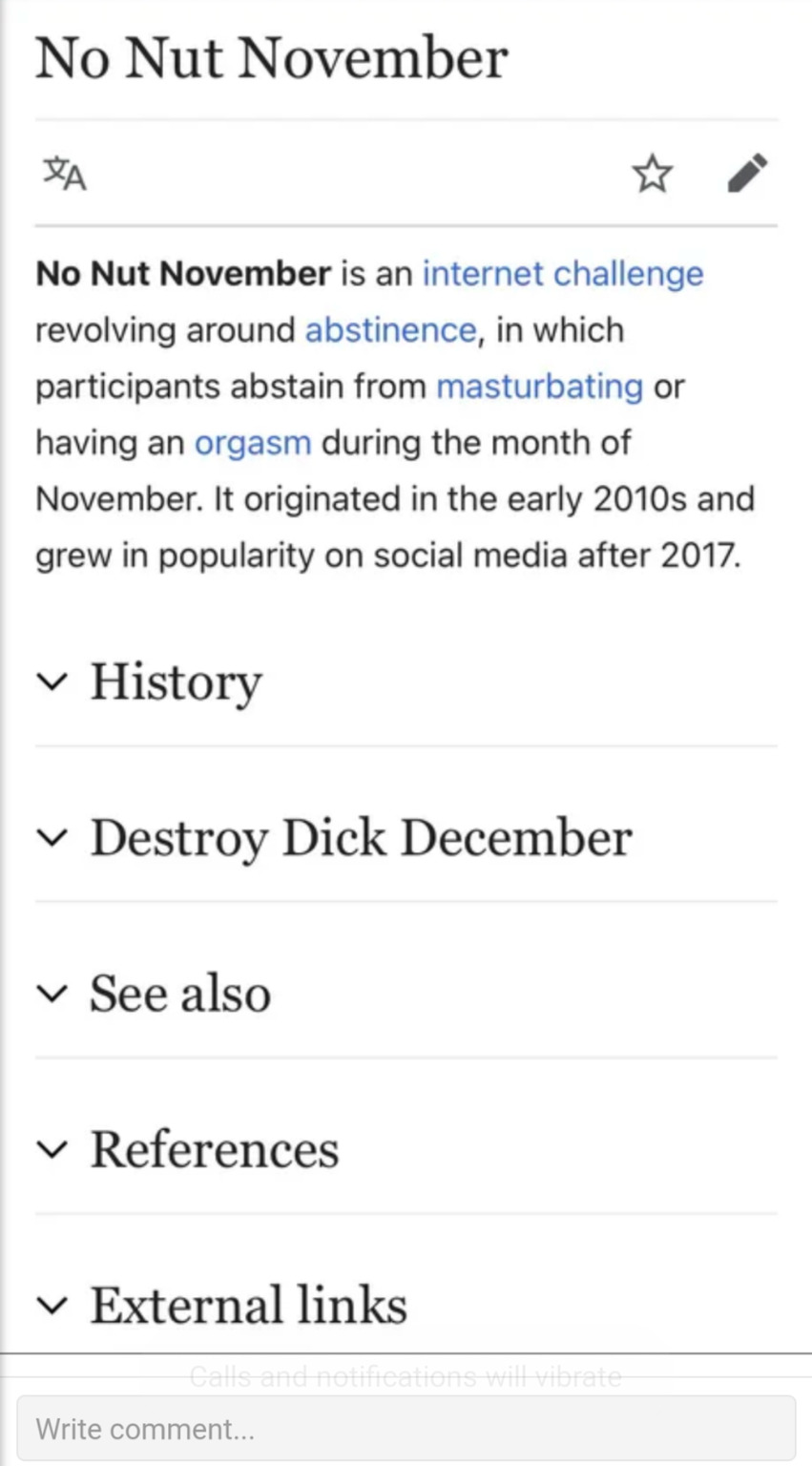 I will go with the destroy Dick December - meme
