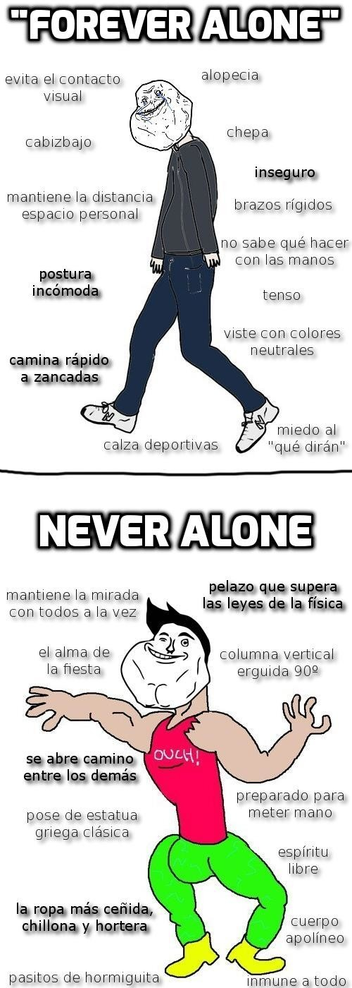 The virgin forever alone vs the chad never alone - meme
