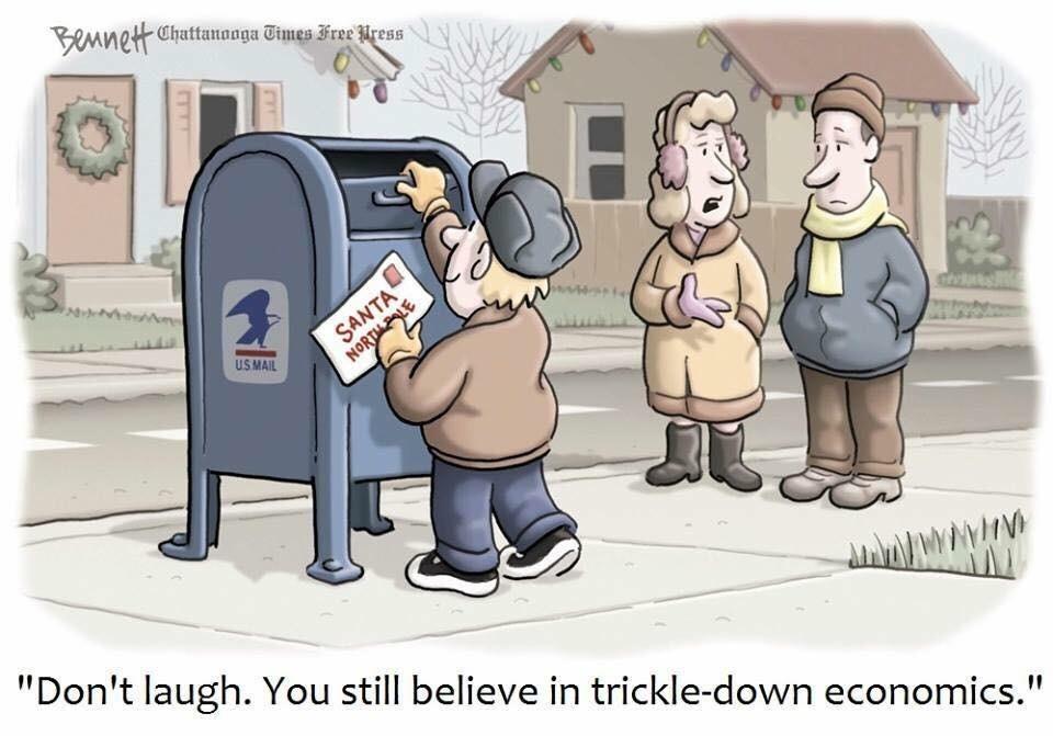 Trickle down economics - meme