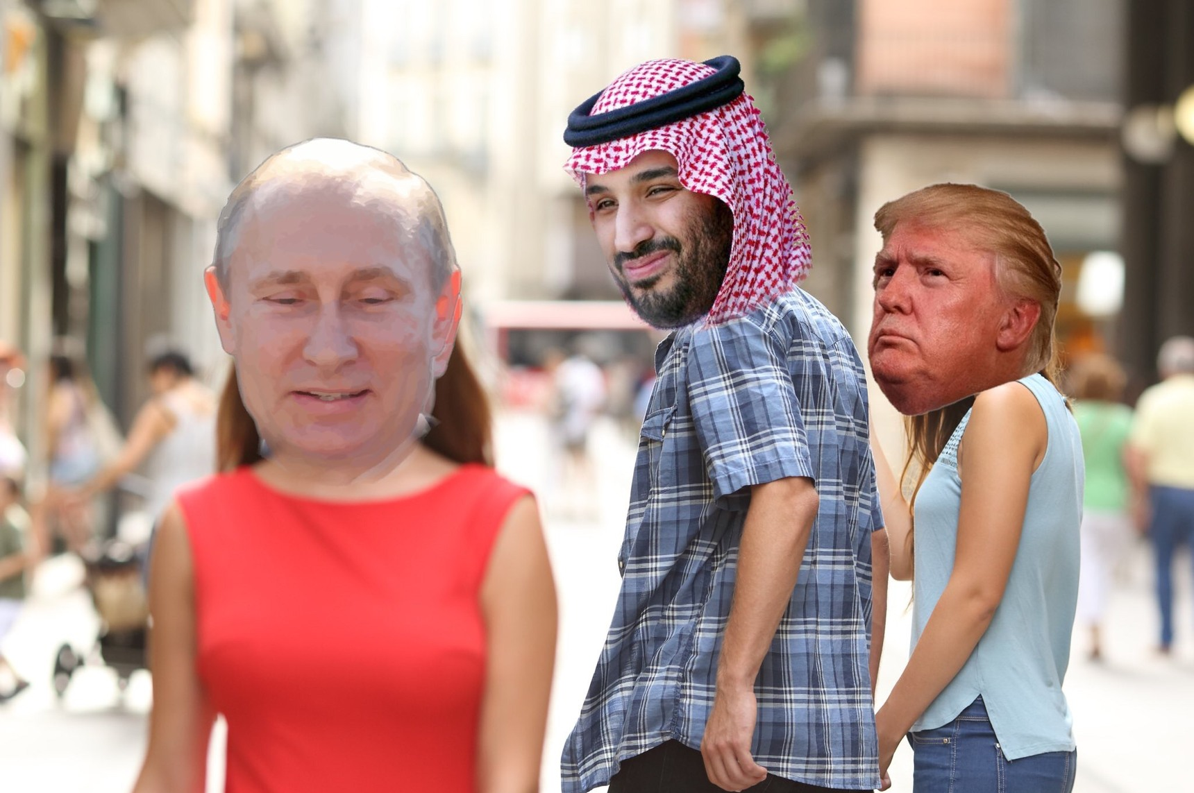 putin, MBS, and dj trump - meme