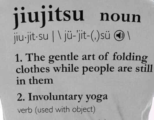 Involuntary yoga - meme