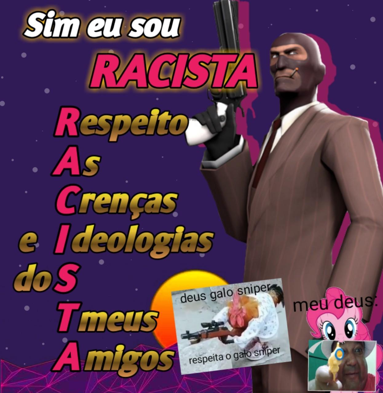 seja racista - meme