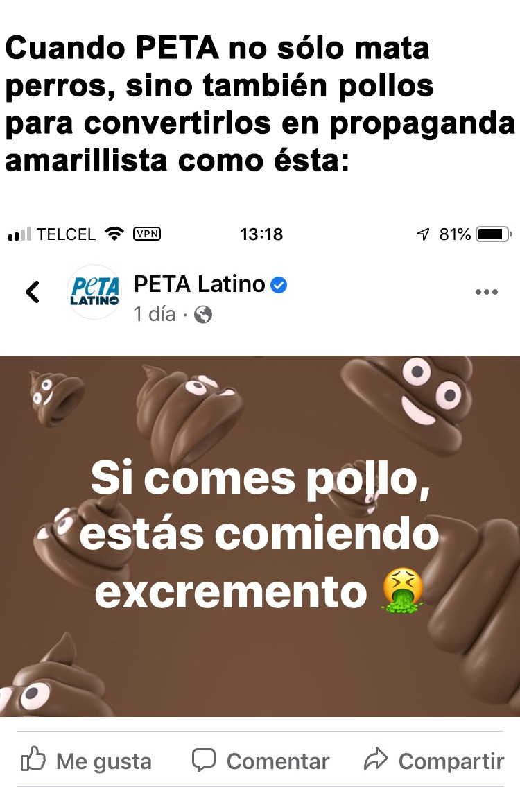PETA mata animales - meme