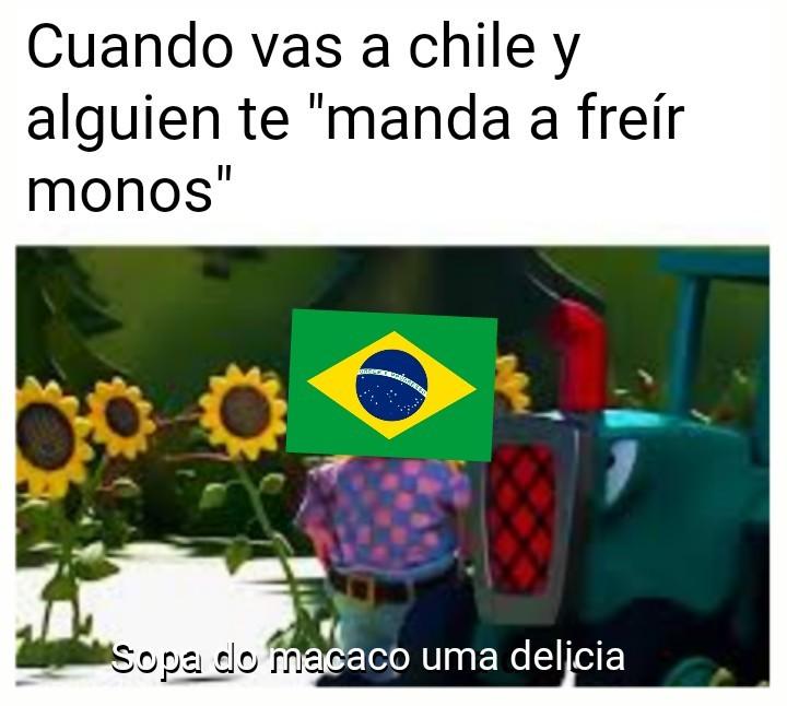 """""""mandar a freír monos"""": Expresión chilena - meme"""