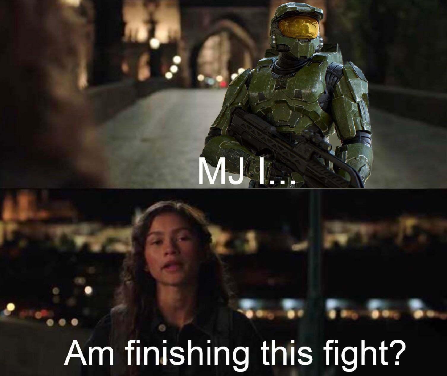 Actually, I need a weapon. - meme