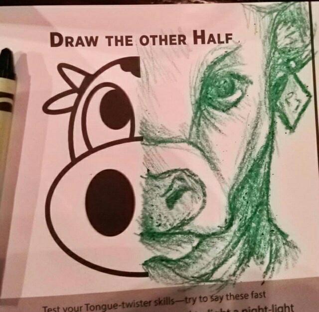 Juste un dessin de vache - meme