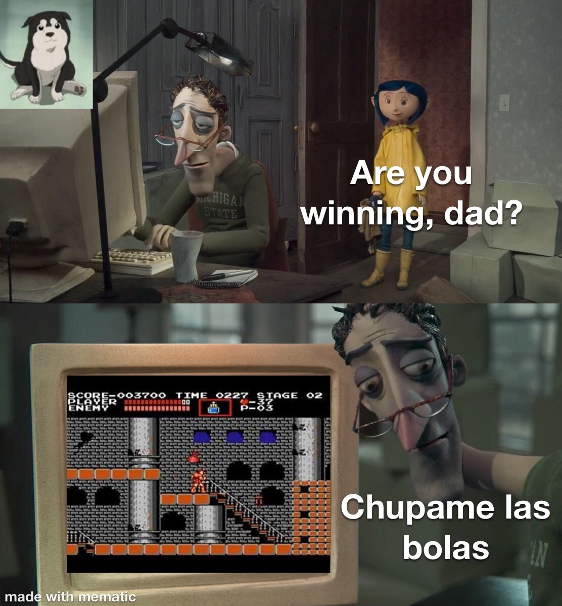 pinche castlevania, buen juego, pero jodidamente difícil - meme