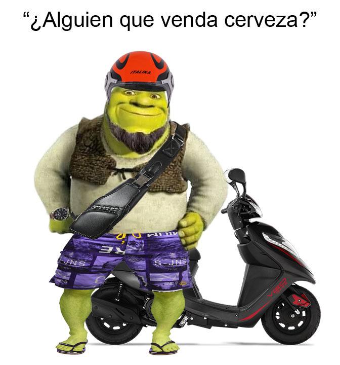 Lol sherk en moto - meme