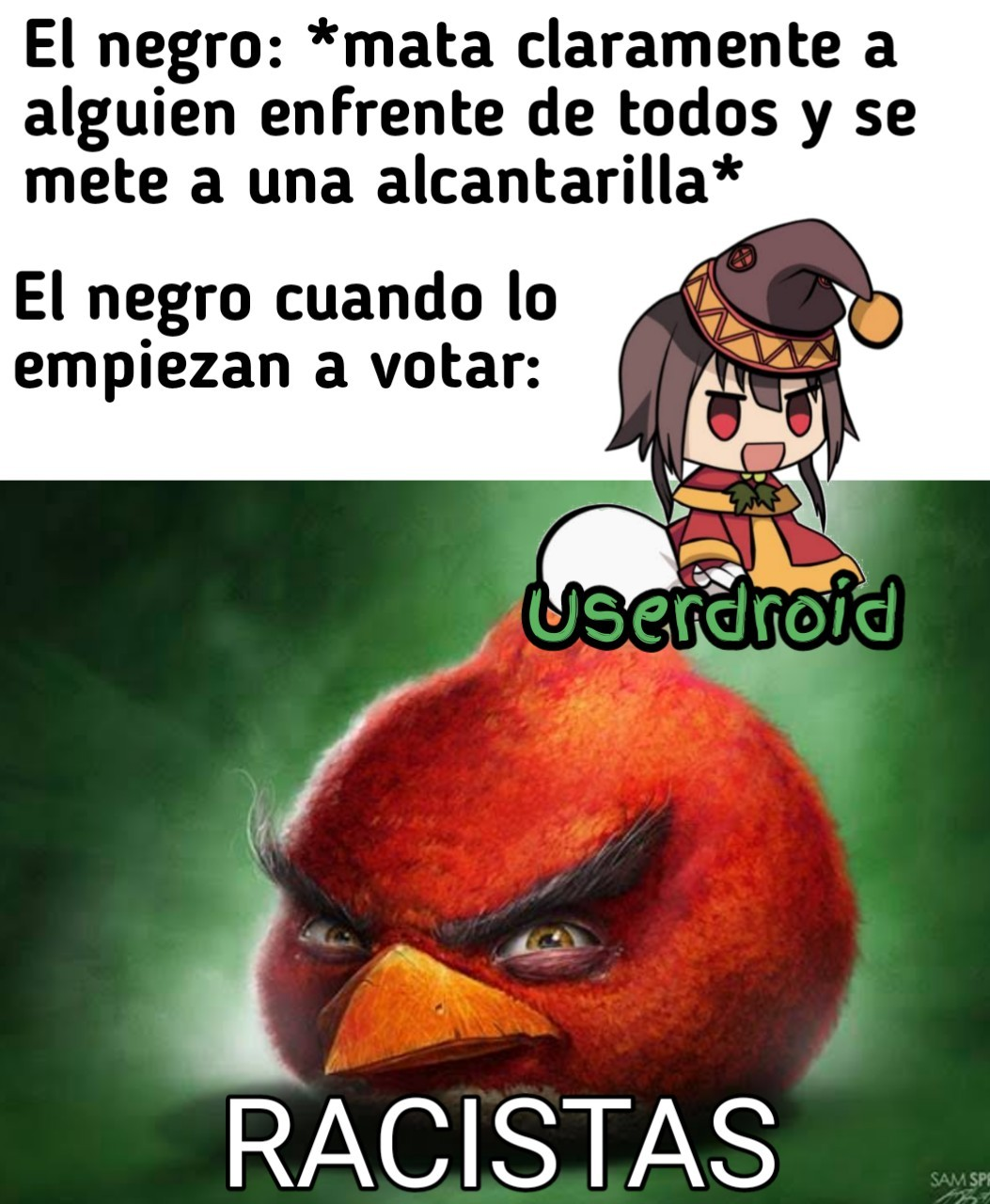 Momo de amongolos - meme