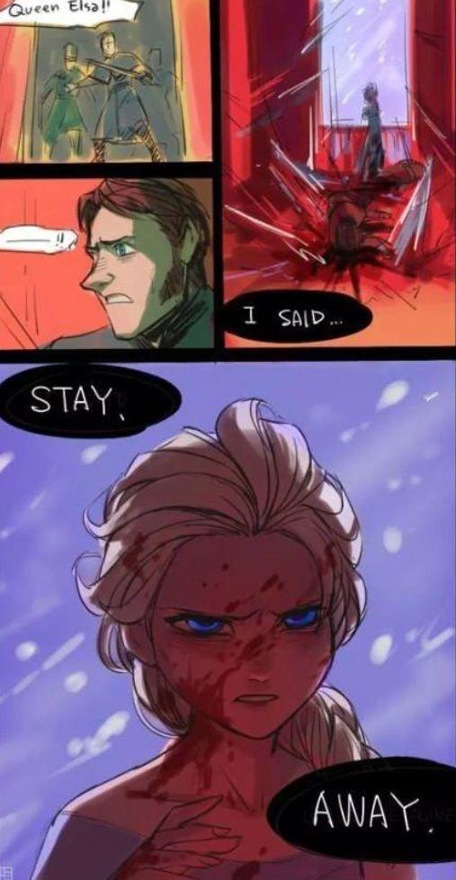 Final alternativo pro Frozen (não fui eu que desenhei) - meme