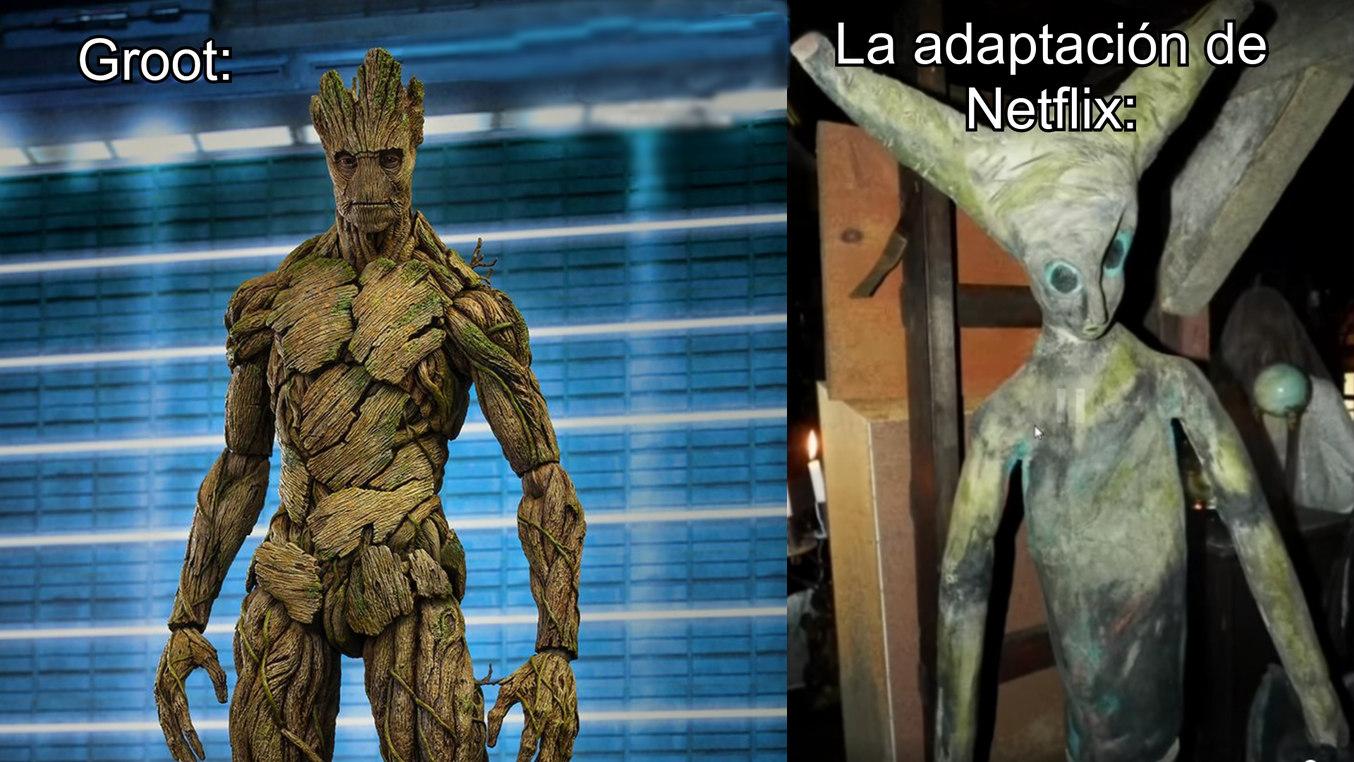 Adaptación de netflix jajajja - meme