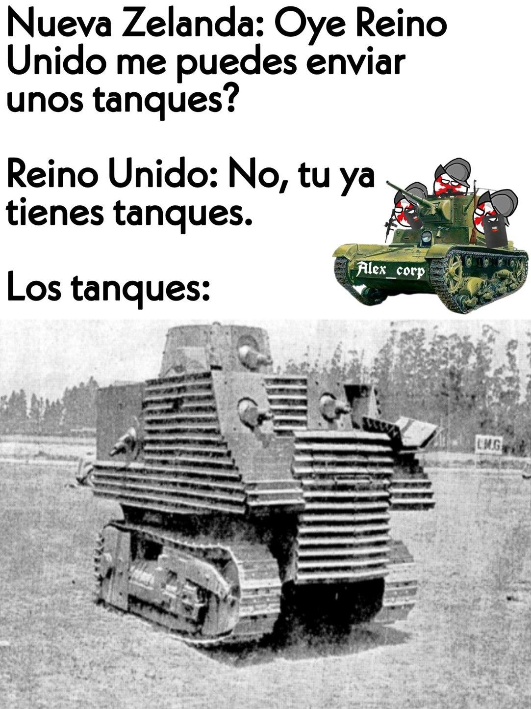 Por cierto, ese tanque es el Bob Semple, considerado uno de los peores tanques. - meme