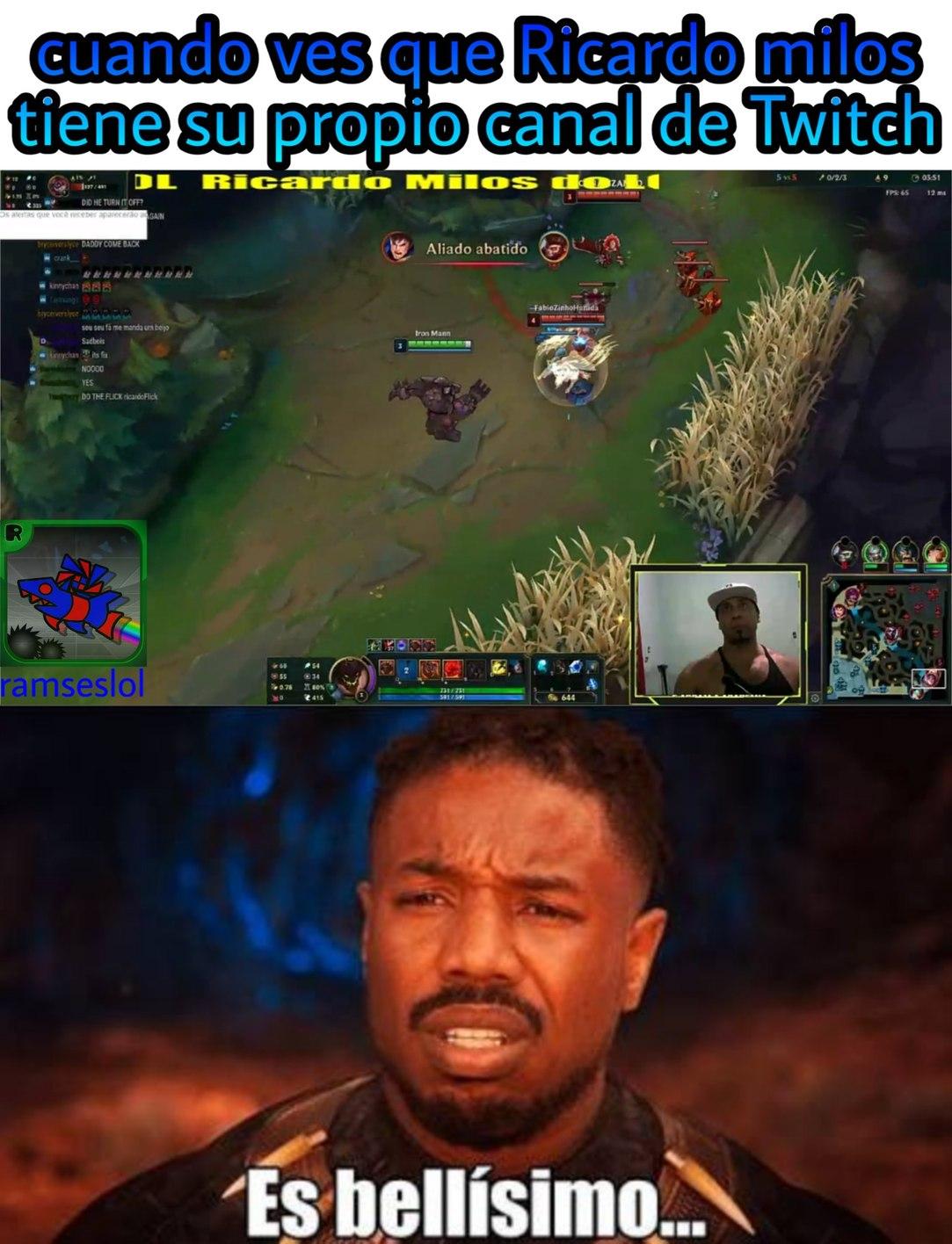 Hace streams de LoL en Twitch - meme