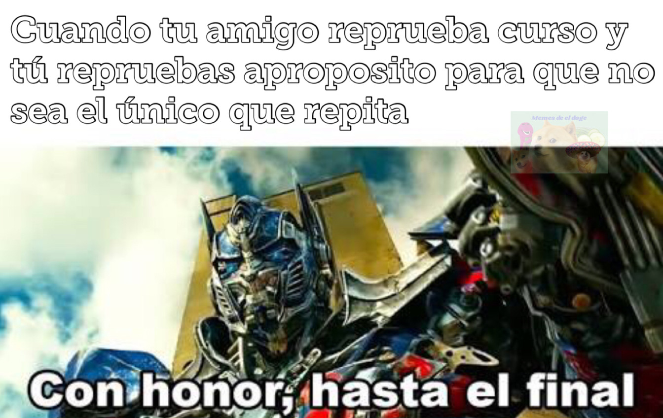 Con honor - meme