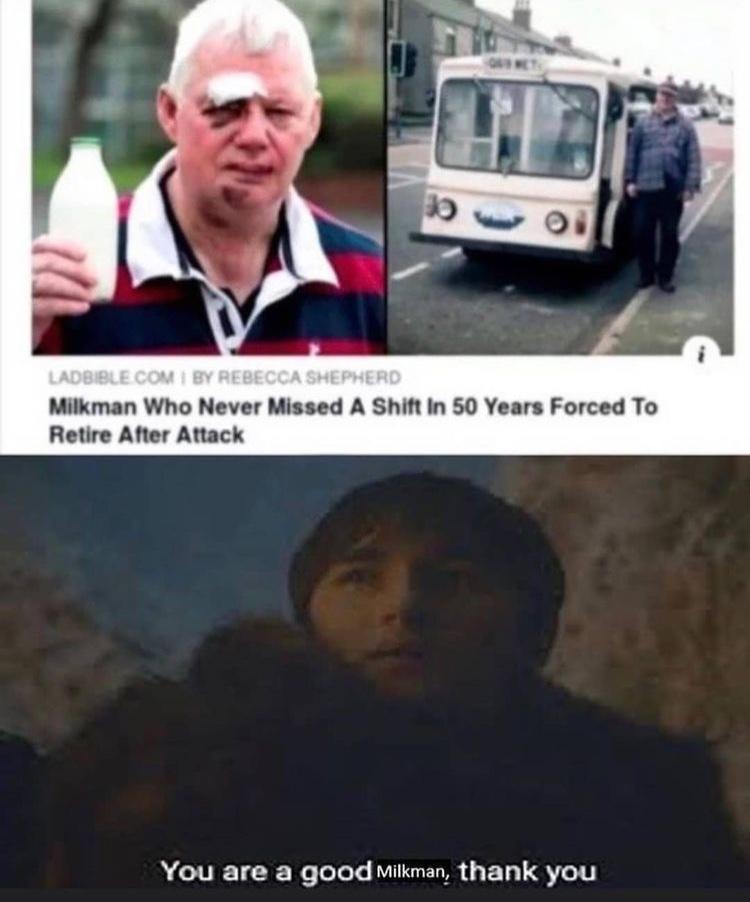 poor milkman - meme
