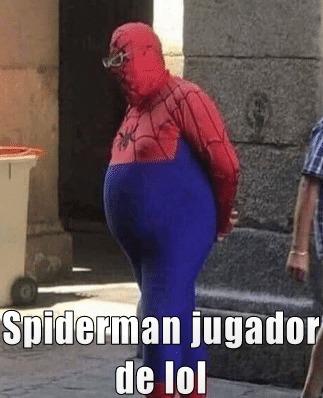 Spiderman jugador de league of legends - meme