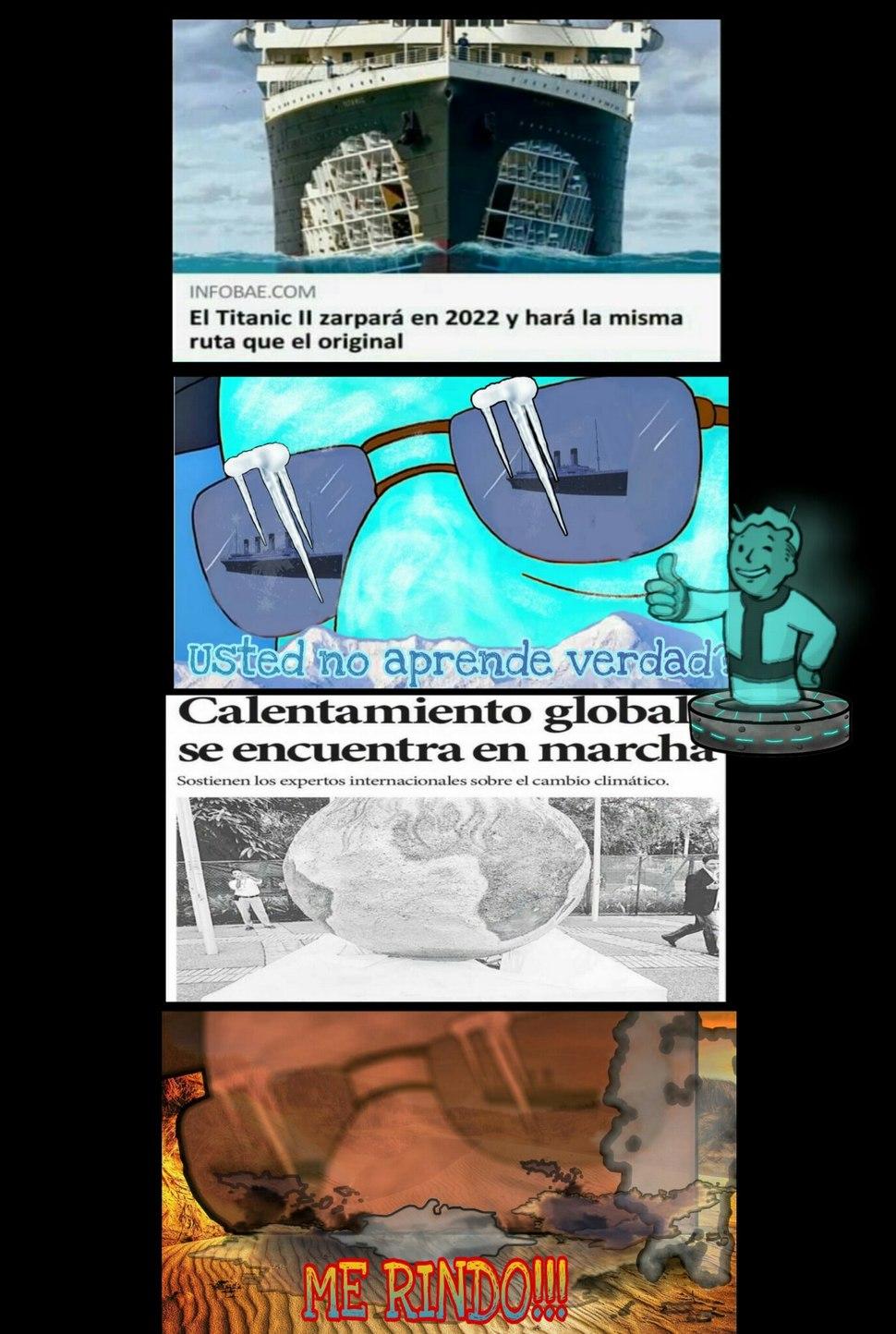Tomala! Pinche iceberg - meme