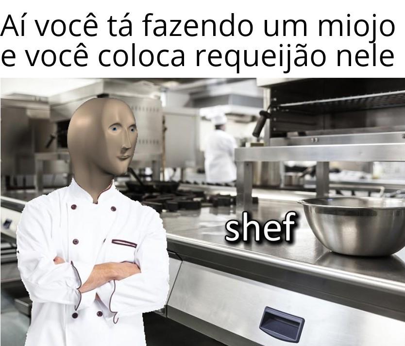 Coloca ovo frito também - meme