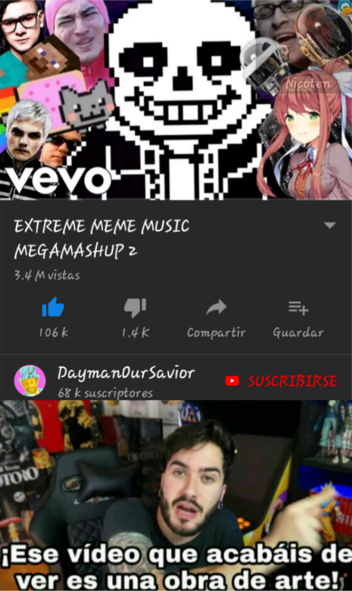 el mejor video de youtube - meme