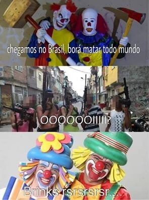 palhaços vem pro Brasil - meme