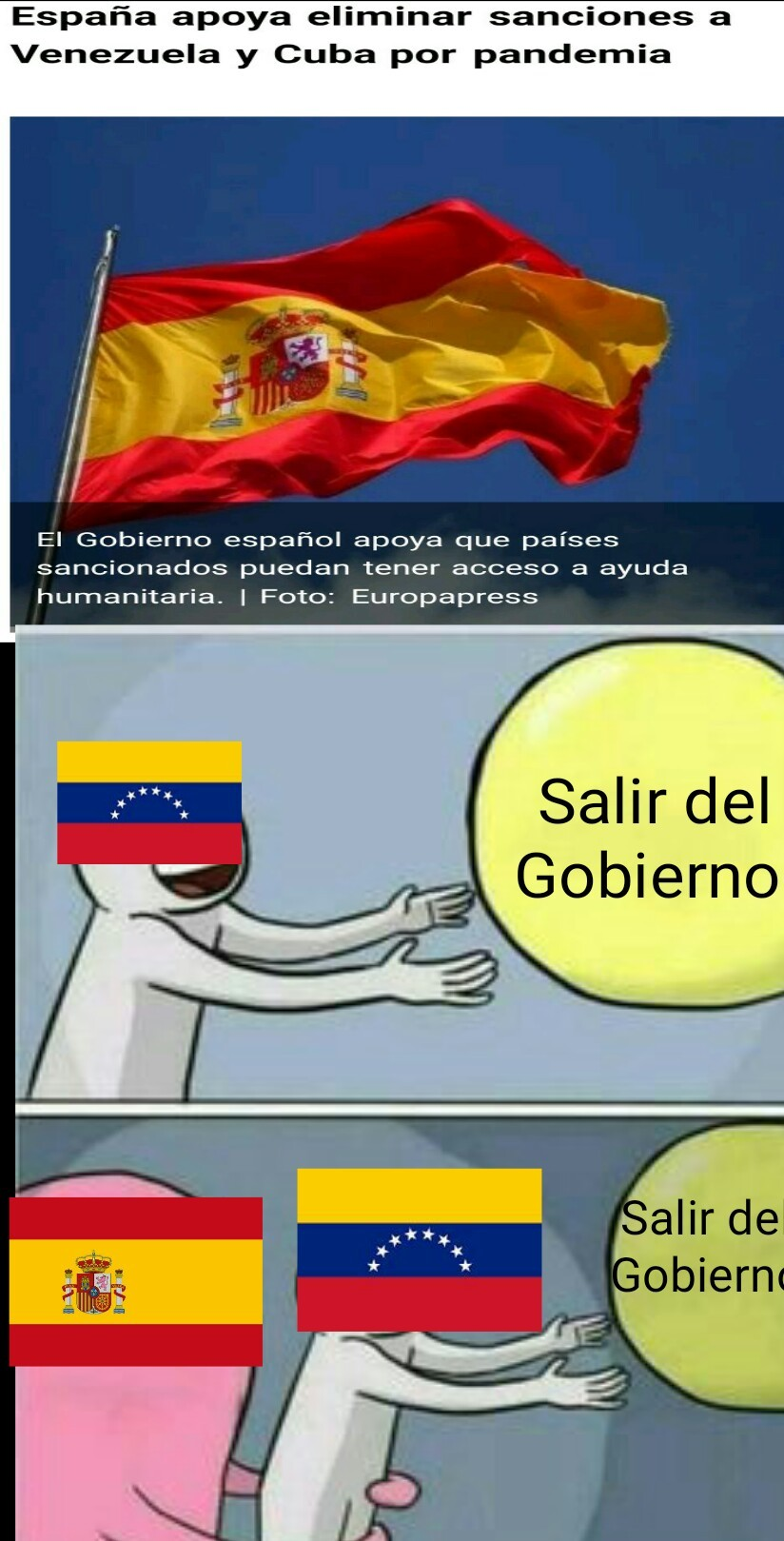 Españoles no sean imbéciles primer aviso - meme