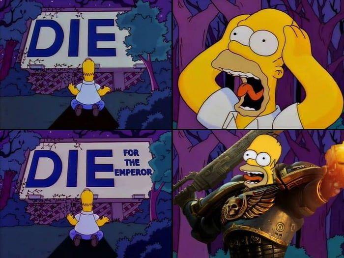 Homerus Simpsoniae,  Ultramarines Space Marines - meme