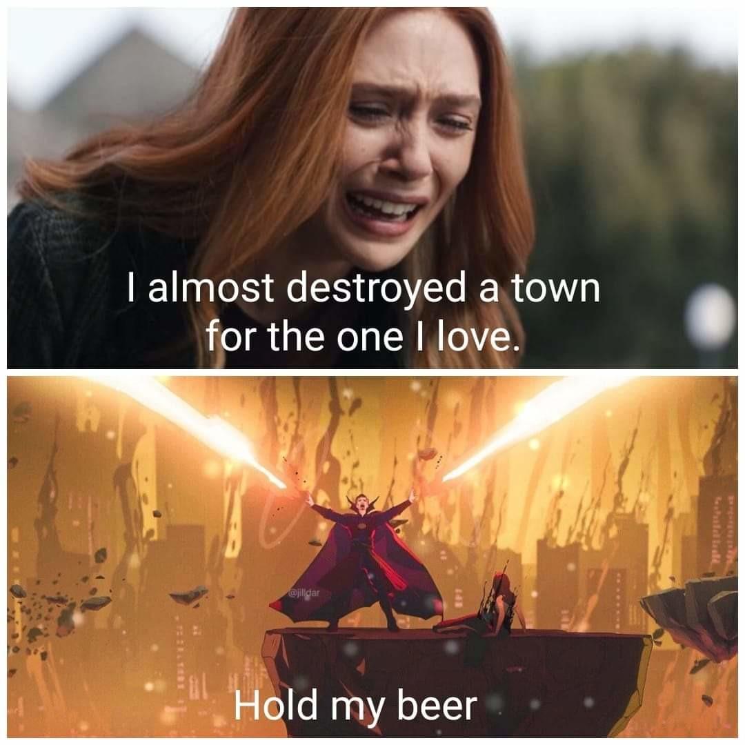 Wanda strange are fucking a lot with the world - meme
