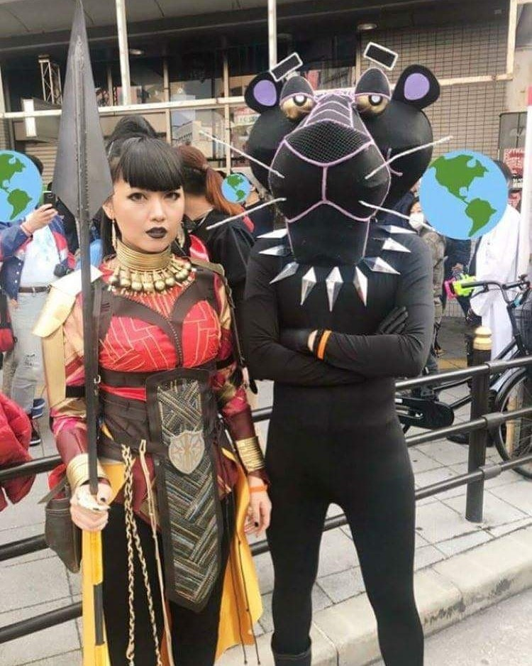 besto cosplay de la pantera negra - meme