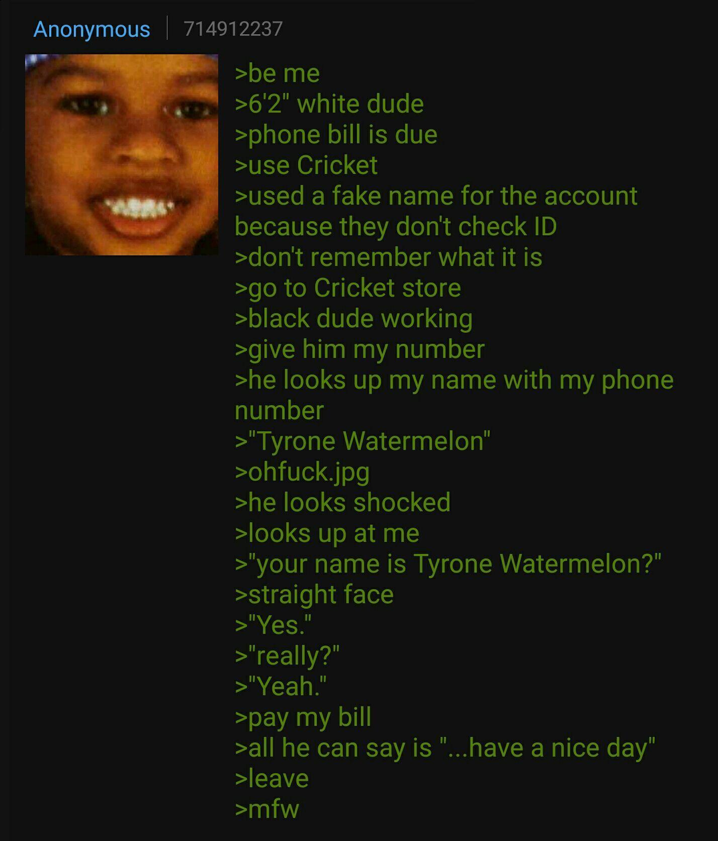 Anon uses Cricket - meme