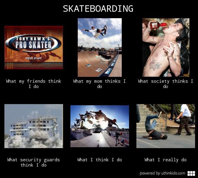 For my skateborders - meme