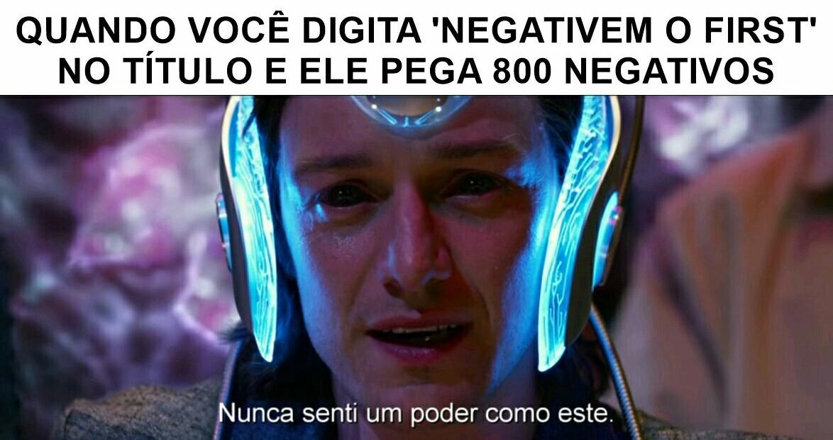 DEIXEM O FIRST NEUTRO - meme
