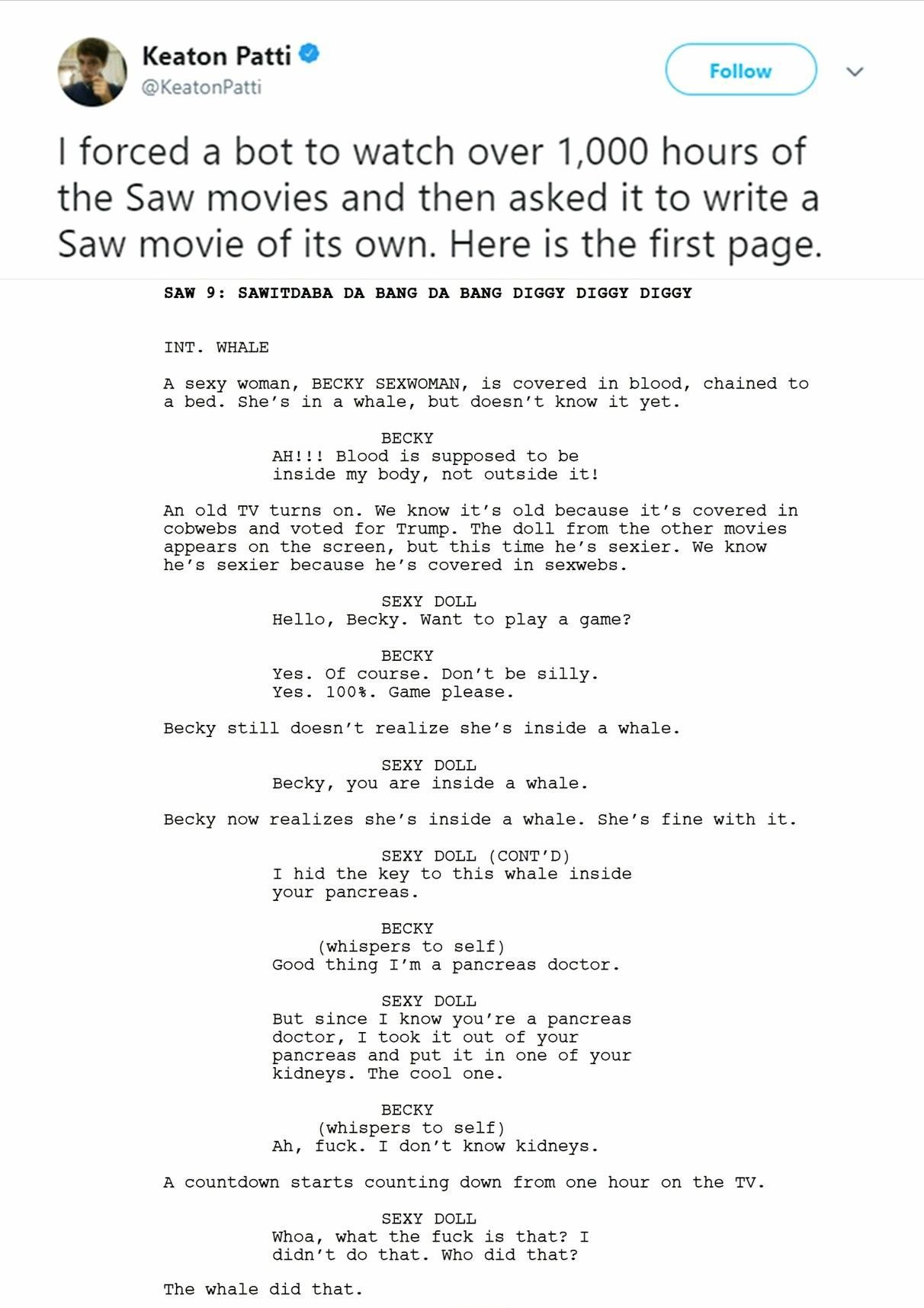 A whale of a tale. - meme