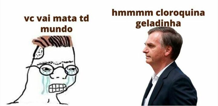 Abandonaram a coquinha pela a cloroquina gelada - meme