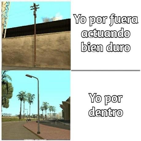Árboles en GTA be like: - meme