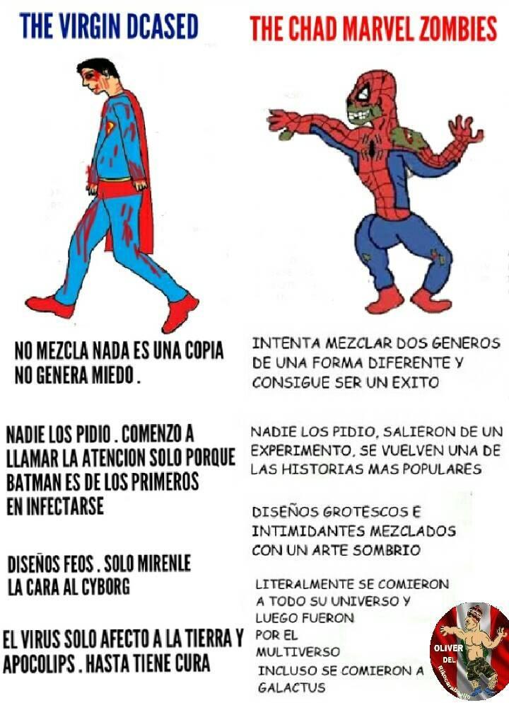 Marvel zombies>>>>>>> Dcasedzzzzzz - meme
