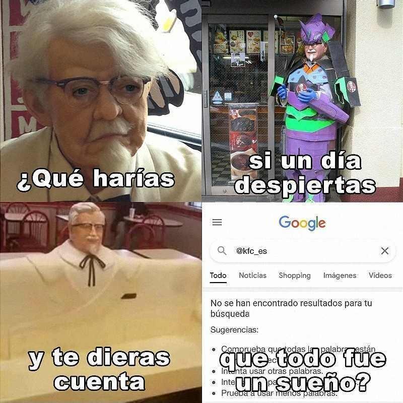 Kfc haciéndose memes
