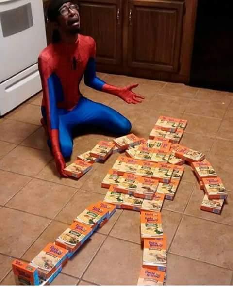 Spiderman eats ass - meme