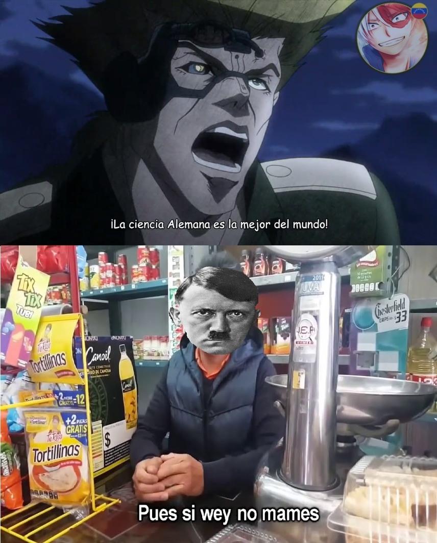 Solo Hitler podía matar a los JoJo's - meme