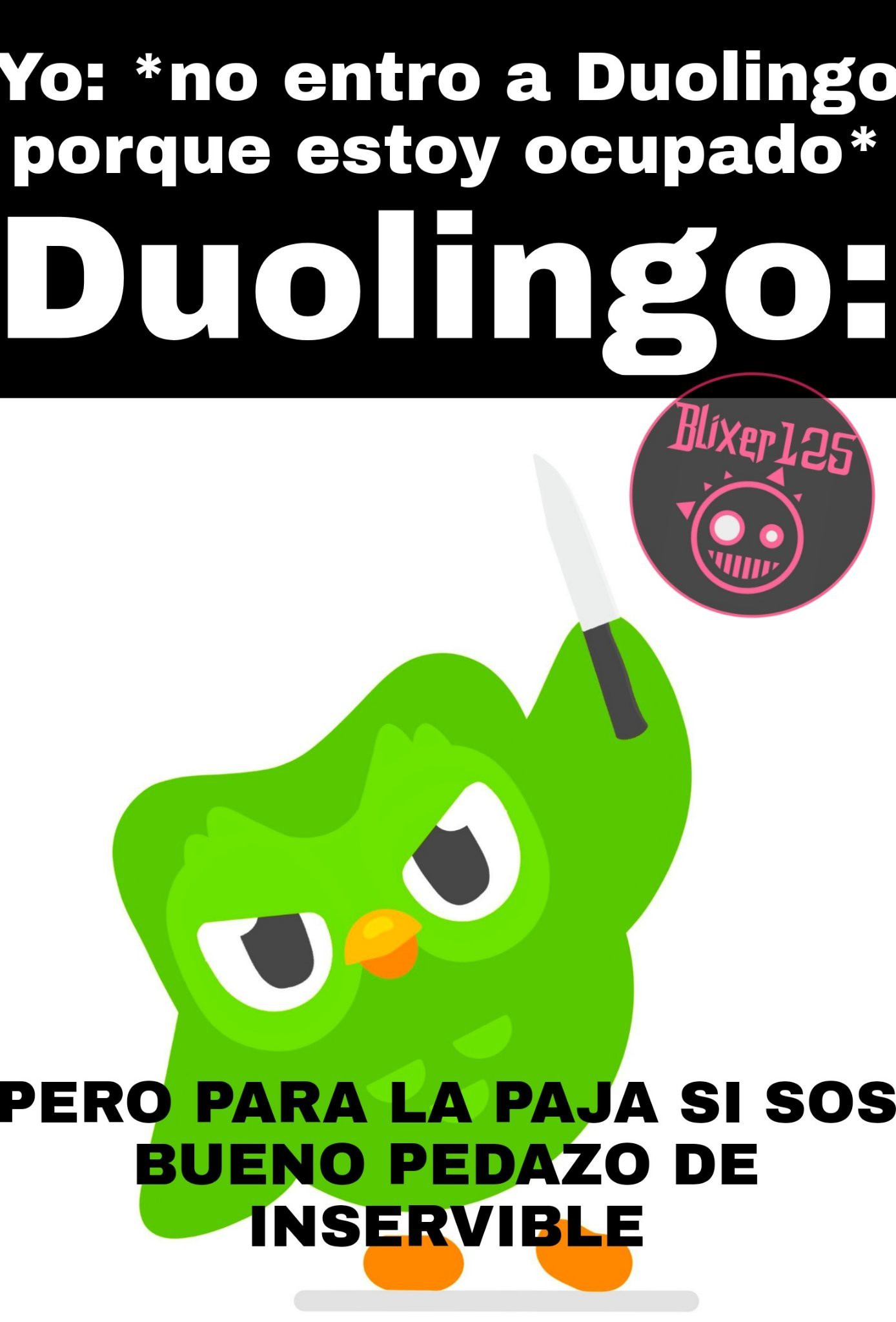 Duolingo no te enojes :'( - meme